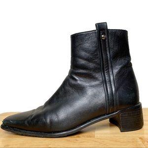 Stuart Weitzman Black Ankle Boot | 8
